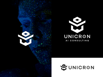 Logo UNICRON icon mark logotype flat logo design graphic design brand logo
