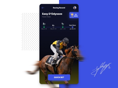Horse Racing Mobile App - Proof of Concept mobile app interface design ui