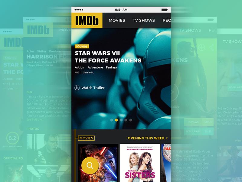 Imdb Redesign Website   Work In Progress app mobile website web ux ui redesign design database