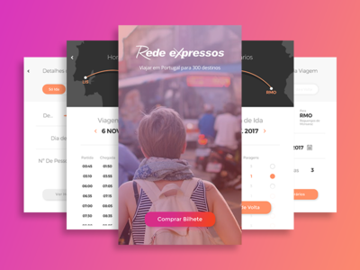 Redesign Rede Expressos App time ticket ecommerce travel bus map ux ui redesign mobile app booking