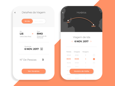 Redesign Rede Expressos App ux ui travel time ticket redesign mobile map ecommerce bus booking app