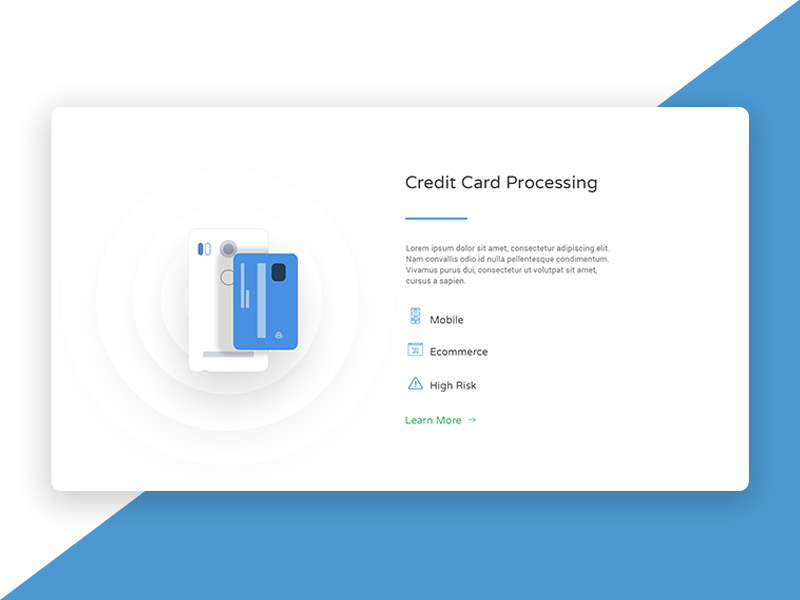 Website homepage section | Credit Card Processing browser webdesign design homepage ui ux website