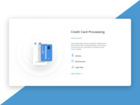 Website homepage section | Credit Card Processing