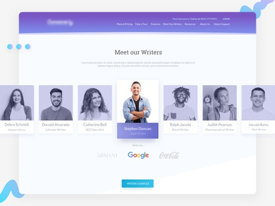 Profile Cards - Team - About Us card design web website user experience interface ux ui
