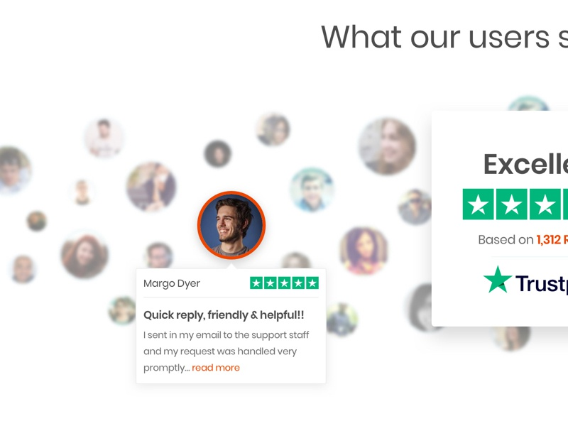 Trustpilot - Ratings/Reviews Section - Website about us design web website user experience interface ux ui