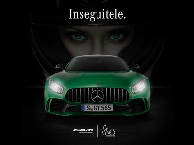Mercedes-Benz AMG Driving Accademy art direction adv potoshop digital facebook post dribbble gtr shes mercedes amg mercedes-benz