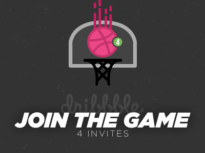 Join The Game illustrator photoshop join the game shot illustration players basket ball invites dribbble