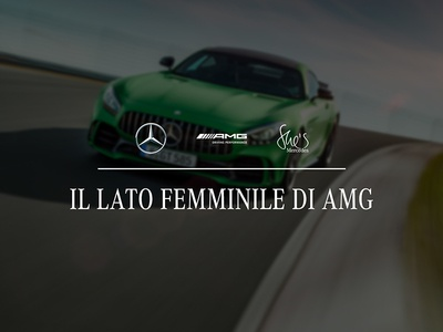 Il lato femminile di AMG sport race gtr dribbble photoshop digital event art direction automotive shes mercedes amg mercedes-benz