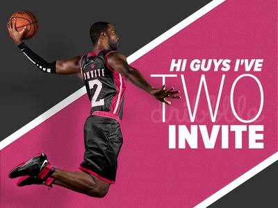 Invite game players invite dribbbble basketball vector icon photoshop illustration dribbble