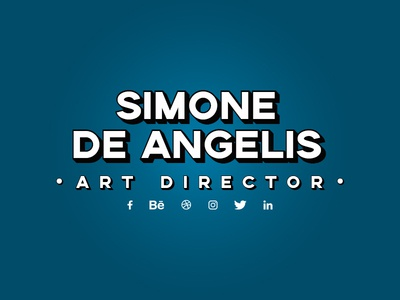 Simone De Angelis follow me dribbble best shot photoshop profile social twitter linkedin instagram facebook behance dribbble publicity adv art director