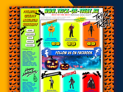 """""""Design Something Spooky!"""" they said. """"It'll be fun"""" they said. trickortreat halloween scary awful spooky design web dribbbleweeklywarmup"""