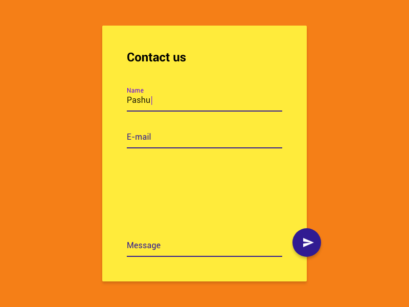 Contact Us / Daily UI 028 contact us contacts form material contact 028 daily ui