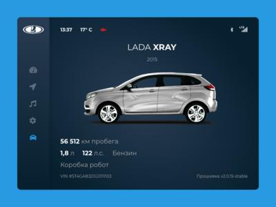 Car Interface / Daily UI 034 auto xray lada dasboard ui interface car 034 daily ui
