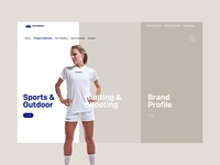 Sports Company Products Page