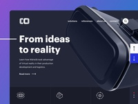 Landing Page for VR Company