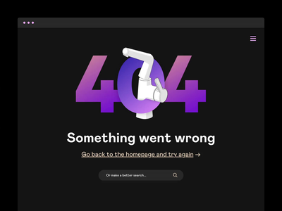 404 Concept animation webdesign web minimal clean flat ux ui