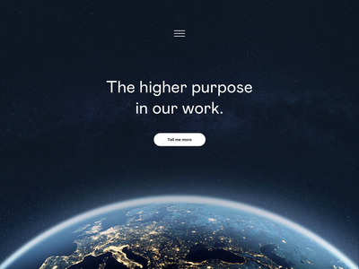 Higher Purpose ui flat web hero landing