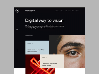Mediasignal - More subpages clean minimal web flat ui