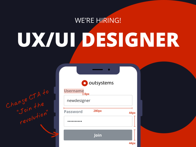 Hiring UX/UI Designers hire uxui designers outsystems ux ui jobs job board job hiring designers