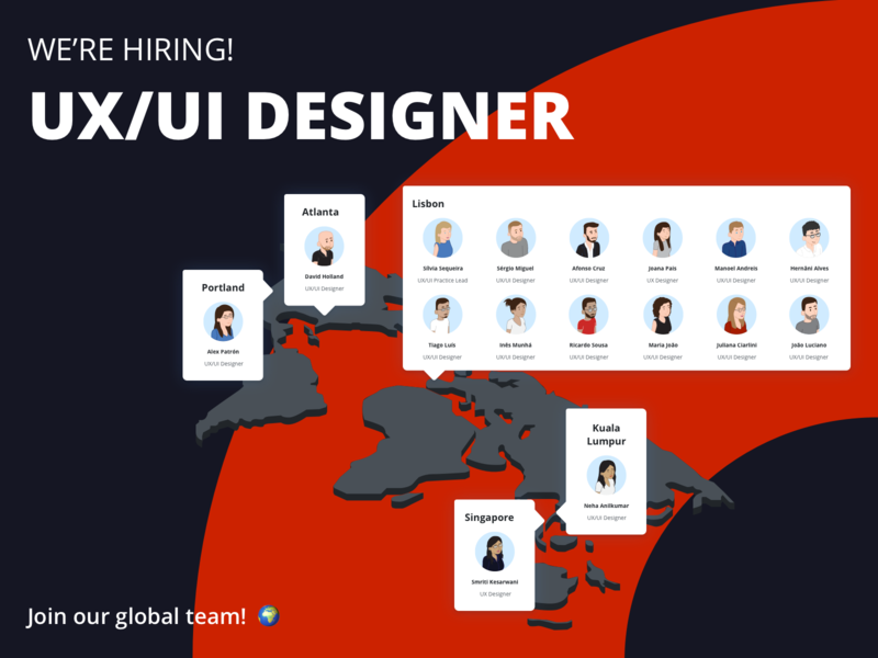 Join our global team! uxui designers designers hiring jobs job board job ui ux outsystems uxuidesigners hire