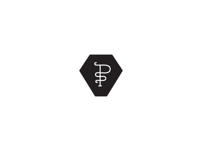 PS wip lettering icon monogram ps s p