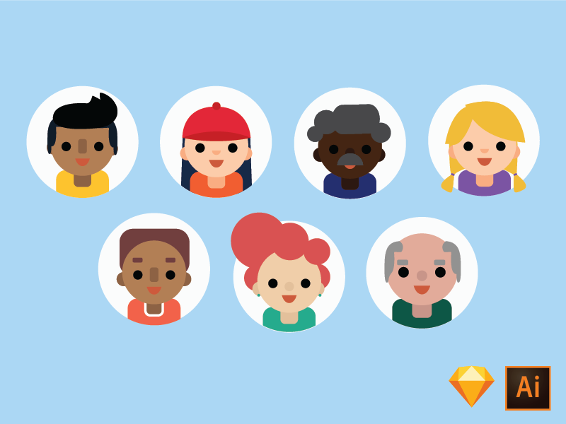 Download avatars freebie