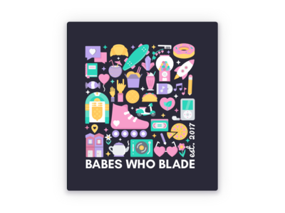 Babes Who Blade Sticker