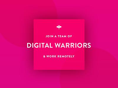 We're Hiring! project manager ui ux hiring social media gif illustration internship remote work