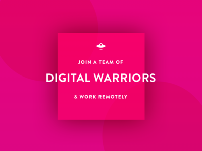 We're Hiring! project manager ui ux hiring social media gif illustration internship remote work