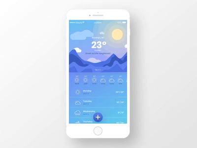Weather App weather app weather app design ui illustration animation