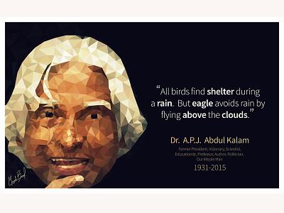 Dr. A.P.J. Abdul Kalam Tribute inspiring missileman illustrator lowpoly tribute abdulkalam