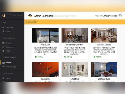 CasaNyla Web Interface Prototype design interior ux ui dashboard admin css web