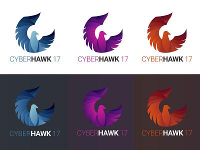 CyberHawk 2017 Logo gradient warm cool logo game hawk bird illustrator ice fire