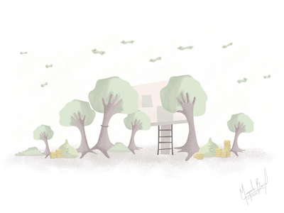 We'll Help You Achieve Your Dreams support hands note gold investments finance money trees wacom tablet sketch
