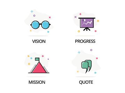 Line Vector Iconography (Part 2) website line vectors icons