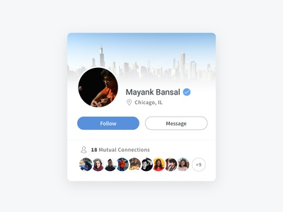User Profile Card cards social networking profile ux ui