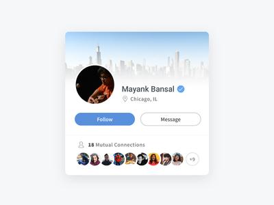 User Profile Card