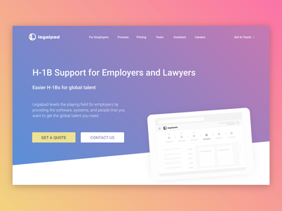 Legalpad Website Landing Refresh
