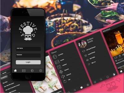 Festive Food App Concept