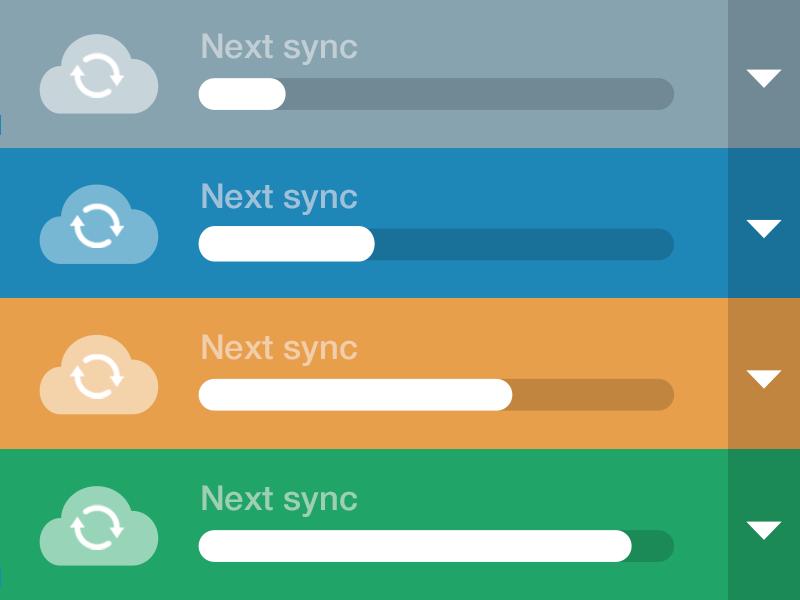 Next Sync sync progress refresh cloud