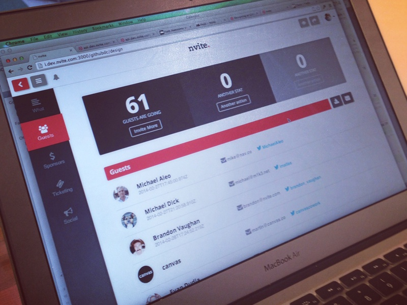 Host dashboard event dashboard events responsive people host social