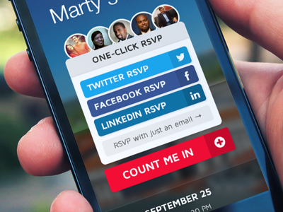 One-click RSVP with nvite rsvp event nvite social twitter facebook linkedin email cta