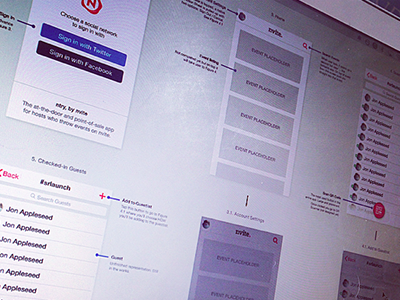 Mobile Design Strategy mobile spread wireframes nvite events iphone workflow
