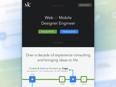 M1k3 Redesigned m1k3 redesigned web site timeline process method mobile
