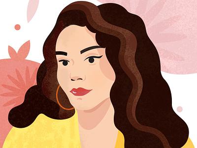 Summer Portrait portrait design illustration vector flat design texture photoshop illustrator digital art digital portrait