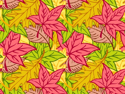 Autumn Leaves Pattern vector pattern design foliage maple leaf leaves autumn fall pattern