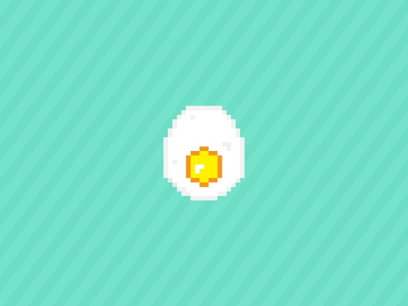 Pixel Egg saturated icon design icon egg food pixel art vector