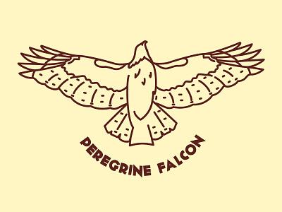 Peregrine Falcon patch bird raptor california illustrator icon vector