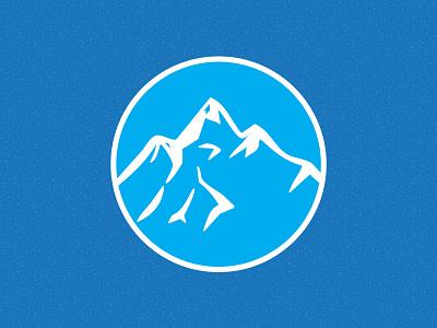 Winter in the Mountains summit peaks outdoors winter mountain illustrator vector