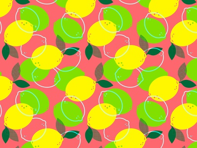 Citrus Summer Pattern pink patterns summer illustrator vector zesty lime lemon citrus repeatable pattern design pattern
